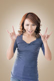 Asian woman face Stock Images