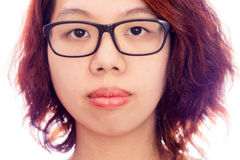 Asian woman face gesture silent Stock Photography