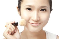 Asian  Woman Face and Makeup Stock Photography