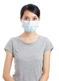 Asian woman with face mask Stock Photography