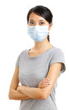 Asian woman with face mask Royalty Free Stock Image