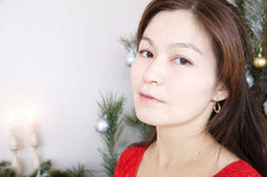 Asian woman face portrait in her thirties, beautifaul and elegan Royalty Free Stock Photo