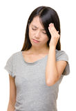 Asian woman feel headache Royalty Free Stock Image