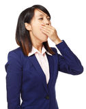 Asian woman feel tired Royalty Free Stock Photos