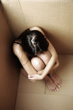 Asian woman feeling alone Royalty Free Stock Images