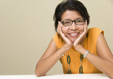 Asian woman feeling happy Stock Photography