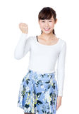 Asian woman fist up Royalty Free Stock Photos