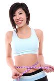 Asian Woman Fitness stock photography