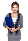 Asian Woman with folder Stock Photos