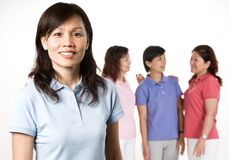 Asian Woman and Friends Stock Photography