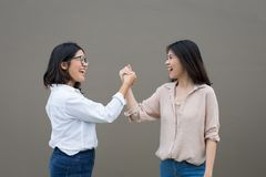 Asian woman friendship royalty free stock photos