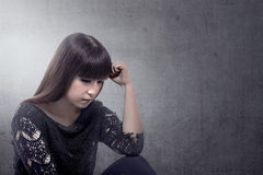 Asian woman get stress Royalty Free Stock Photography