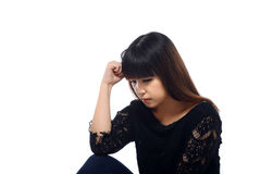 Asian woman get stress Stock Images