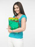 Asian woman with gifts Stock Photos