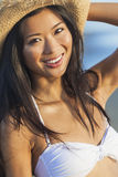 Asian Woman Girl Bikini Cowboy Hat At Beach Royalty Free Stock Image