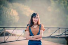 Asian woman girl bright Royalty Free Stock Image