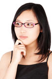 Asian woman in glasses Royalty Free Stock Photo