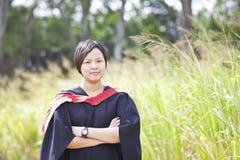 Asian woman graduation Stock Image
