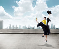 Asian Woman Graduation Royalty Free Stock Photo