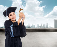 Asian Woman Graduation Royalty Free Stock Photo