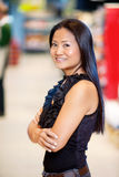Asian Woman in Grocery Store Royalty Free Stock Photography