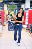 Asian Woman in Grocery Store Royalty Free Stock Photos