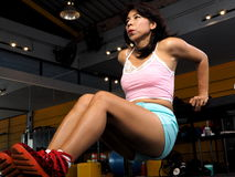 Asian woman at the gym Stock Photo