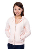 Asian woman hand in pocket Stock Image