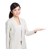 Asian woman hand showing Royalty Free Stock Images