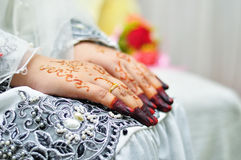 Asian woman hands with henna Royalty Free Stock Photography