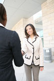 Asian Woman Handshake Royalty Free Stock Photography