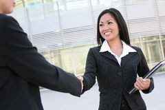 Asian Woman Handshake Stock Photos