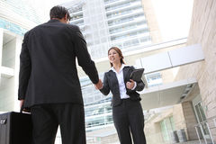 Asian Woman Handshake Royalty Free Stock Photos