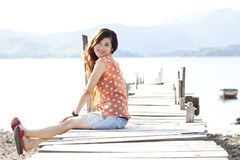 Asian woman with happy face Stock Photography