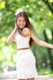 Asian woman happy Royalty Free Stock Photo