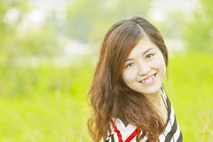 Asian woman happy and smile Royalty Free Stock Image