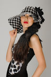 Asian woman in hat Stock Photo