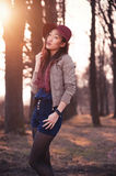 Asian woman in hat Stock Photos