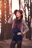 Asian woman in hat Royalty Free Stock Photo