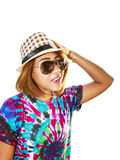 Asian woman with hat Royalty Free Stock Photo