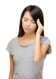 Asian woman have seriously headache Royalty Free Stock Photo