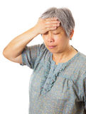 Asian woman headache Stock Images