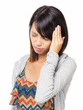 Asian woman with headache Stock Photography