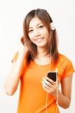 Asian woman and headphone Stock Photo