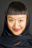 Asian Woman With Headscarf Stock Photo