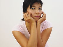 Asian woman headshot Stock Images