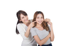 Asian woman with her friend Stock Photo