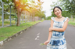 Asian woman hipster lifestyle portrait. Solo travel Royalty Free Stock Images