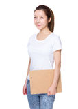 Asian Woman hold with clipboard Stock Photography