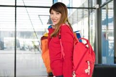 Woman holding many shopping bags. shopaholic, sale, consumerism. Asian woman holding many shopping bags. shopaholic, sale, consumerism and people concept Stock Images